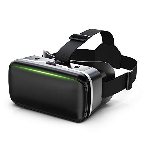 【2020令和 VRゴーグル】 VRヘッドセット VRヘッドマウントディスプレイ 3D スマホVR モバイル型 瞳孔/焦点調節 非球面光学レンズ 4.7~6.5インチスマホ ブルーライトカット 眼鏡対応 1080PHD高画質 600近視/遠視適用 優れた通気性 自粛応援 120°視野角 着け心地よい 4.7~6.5インチのスマホ対応 日本語説明書付 自宅で楽しむ クリスマス&新年プレゼント