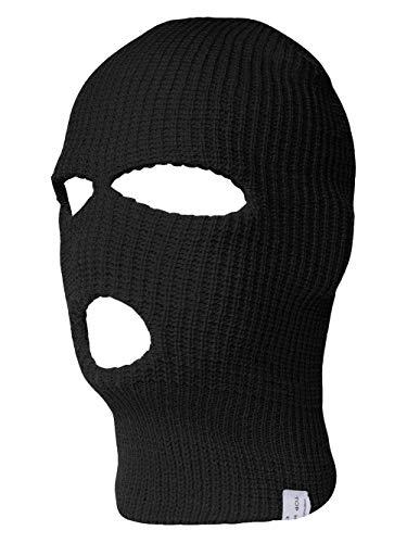 TopHeadwear 3-Hole Ski Face Mask Balaclava, Black