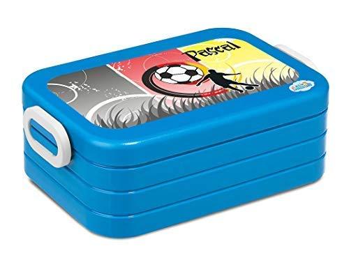 Mein Zwergenland Boîte de Déjeûner Mepal Maxi Take A Break Midi Boîte à Sandwich avec Propre Nom Turquoise - Bleu