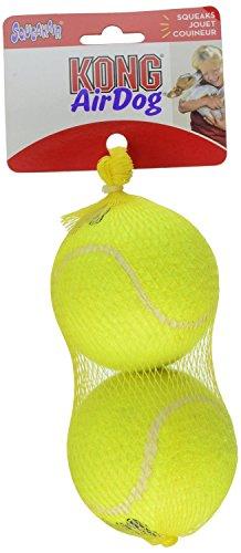 KONG Air Dog Squeakair Dog Toy Tennis Balls, Large 2-Balls
