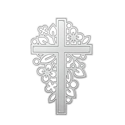 Kcibyvx Stanzschablone Kreuz,Prägeschablonen Stanzformen Schablonen für Scrapbooking, Fotopapier, Karten,DIY Herstellung Das Erntedankfest Ostern Geburtstag Neujahrsgeschenk