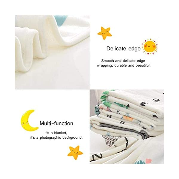 SNOWIE SOFT® Flannel Printed Monthly, 70 X 100cm Soft Blanket,for 0-12 Month Baby 6 41ZSIXFFjFL