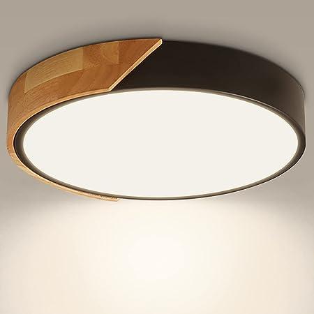 Kambo LED Plafonnier 24W 2400LM LED Lampe de Plafond Moderne Rond Blanc Neutre 4500K Ø30*5CM Chambre la Cuisine le Salon le Balcon et le Couloir