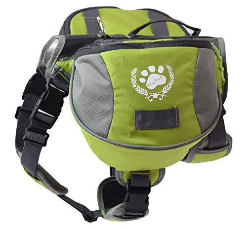 blackgoddy Hund Rucksack verstellbar Pack Satteltasche Stil Hund Zubehör für Wandern Camping Reise (L)