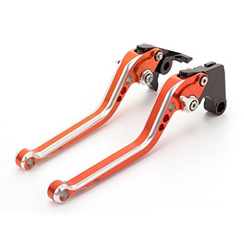 FXCNC Racing Adjustable Motorcycle Colorful Long Brake Clutch Levers Compatible with Suzuki SV650/S 99-09,DL650 V-STROM 04-10,KATANA 600/750 98-06,GSXR600 92-93,GSXR750 88-95,Bandit 400 91-93