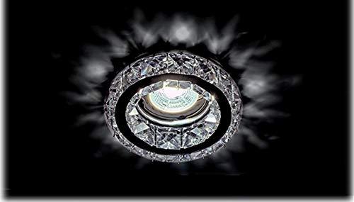 Kristall Deko Einbaustrahler MR16 GU10 GU5.3 Lampe Spot licht Rund 773R/CL