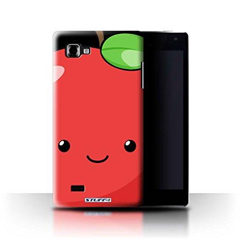 Stuff4 Hülle/Case für LG Optimus 4X HD P880 / Apfel Muster/Kawaii Essen Kollektion