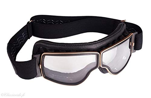 Brille Aviator Goggle T2, goldfarben, Schwarz