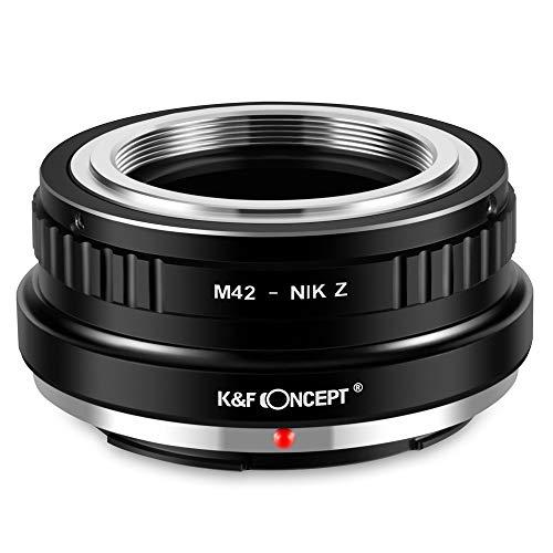 K&F Concept M42-NIK Z Bajonettadapter Objektiv Ring für M42 Objektiv auf Nikon Z 7 und Nikon Z 6 Spiegellose Vollformatkamera