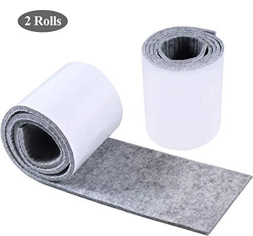 ROOGELD Felt pad,Felt Strip Roll, 2 roll 39.3 inches x 3.9 inches Heavy Duty Felt Tape gesneden in elke vorm om uw hardhout en laminaat vloeren te beschermen, voor tafel, bed, Bank, gerechten en plantenpotten