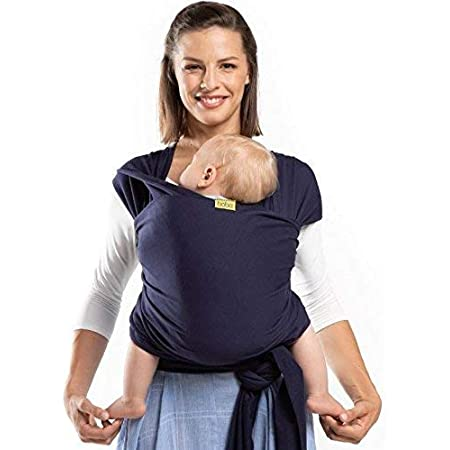 Boba Wrap Baby Carrier, Navy Blue - Original Stretchy Infant Sling, Perfect for Newborn Babies and Children up to 35 lbs