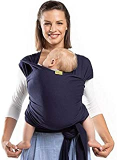 Boba Baby Wrap Carrier, Navy Blue - The Original Child and Newborn Sling, Perfect for Infants and Babies Up to 35 lbs (0 - 36 months)