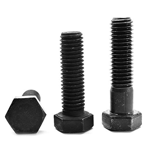 "1""-8 x 1 1/2"" (FT) Coarse Thread Grade 8 Hex Cap Screw (Bolt) - USA Alloy Steel Black Oxide Pk 10"