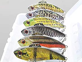 wLure Lipless Crankbait Long Casting 3 Tie Positions from Jigging to Retrieving for Bass Fishing Bass Lure Fishing Lure with Tackle Box HL773KB