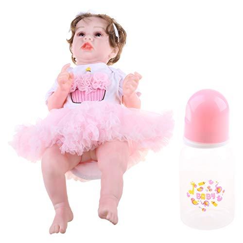 Xueebaoy Boneca nutritiva de 23 polegadas 58 cm realista Reborn Baby brinquedo completo de silicone