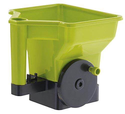 VILMORIN – Semilla de césped/fertilizante de manivela – Dosificación precisa y práctica de productos para difuminar – 21 cm x 24 cm x 22,5 cm – Capacidad: 3 litros – verde y negro