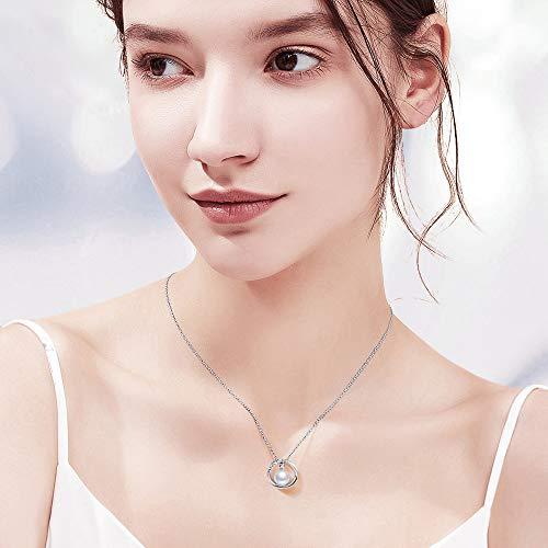 【Amazon限定ブランド】ネックレスレディース本真珠ペンダント女性真珠パールネックレスシルバー925アクセサリー誕生日プレゼント女性ジュエリー