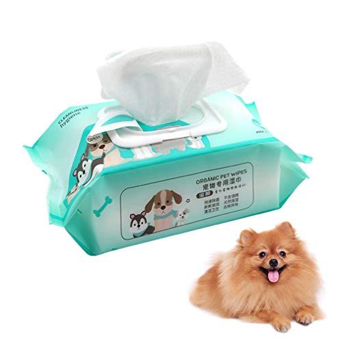 HeiGui 5PCS Pet Tücher, Saubere Tücher Tücher, Katze Und Hund Allgemeine Sterilisation Pflege Haustier Tücher