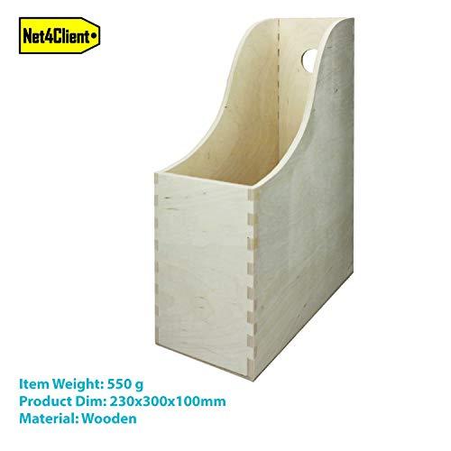 Net4Client Schreibtischhalter aus Holz Aktenaufbewahrungsbox Einzelne Magazinablagenregale