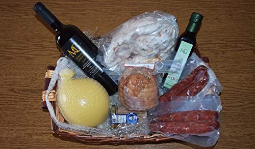 Cesto Natalizio con Salumi, prodotti Made in Italy