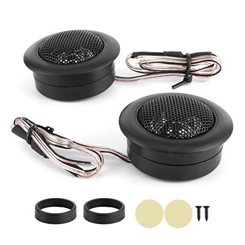 Qiilu Altavoces de coche de 2 piezas, Altavoces de coche universales de alta potencia de 200 W Tweeter Reproductor de música de audio pequeño 2500~25000Hz