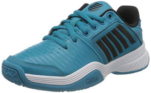Dunlop Herren KS TFW Court Express Omni BLK M Sneaker, Algiers Blue/Black/White, 37 EU