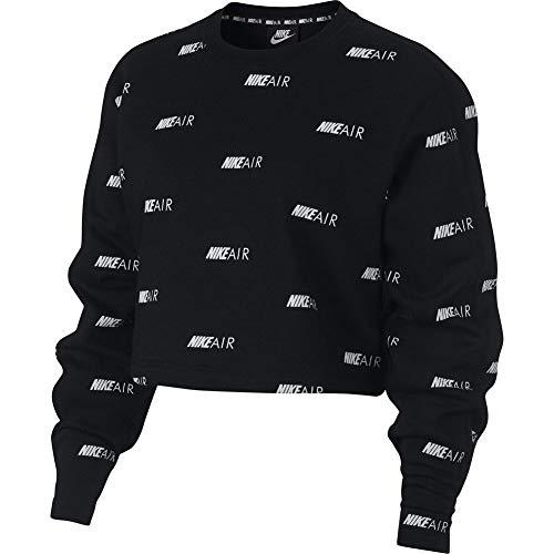 Nike Air FLC AOP Sweatshirt Damen Schwarz S (Small)