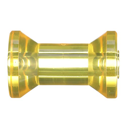 5 Inch Width Boat Trailer Yellow Molded Rubber Spool Roller 1//2 Inch Hole