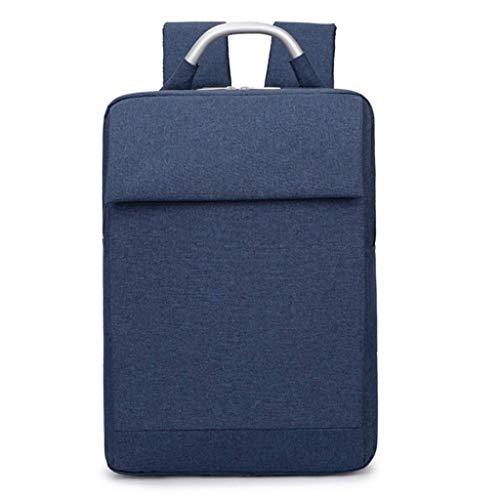 HEMFV 15.6インチファッションビジネストラベルノートパソコンのバックパック、防水スリム耐久性のある大学学校コンピュータbookbag用女性、男性、屋外キャンプ (Color : Blue)