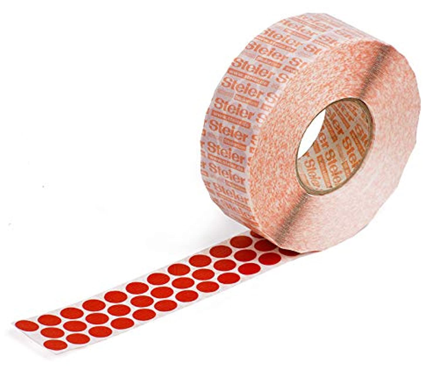 STEIER 3241220 Red Marking Dots, Strong Adhesive Dots, Coloured Fabric Stickers, 12 mm, 6000 Pieces (Round, Mini & Removable), Diameter