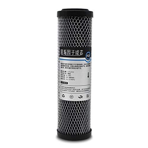 Luoshan 2 PCS 10-Zoll-Kokosnuss-Shell-Aktivkohlefilter Haushaltswasserfilter Filter