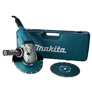 Amoladora angular Makita, (en el caso incluye 2 discos de diamante de 230 mm), GA9020RFK3
