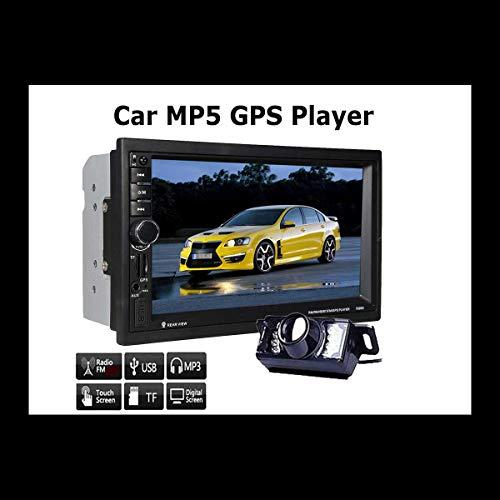 EINCAR 7 '' ¨¦Cran Tactile HD Audio 2 Double Din Bluetooth St¨¦r¨¦o Voiture GPS Navigator Dash Navigation GPS MP5 FM Radio TF USB AUX + Cam¨¦ra Arri¨¨re