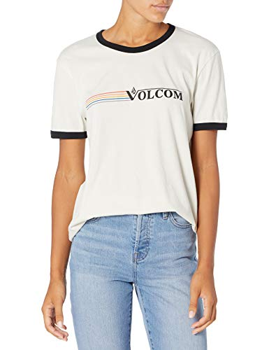 Volcom Truly Ringer tee Camiseta de Manga Corta, Mujer, Mist, M