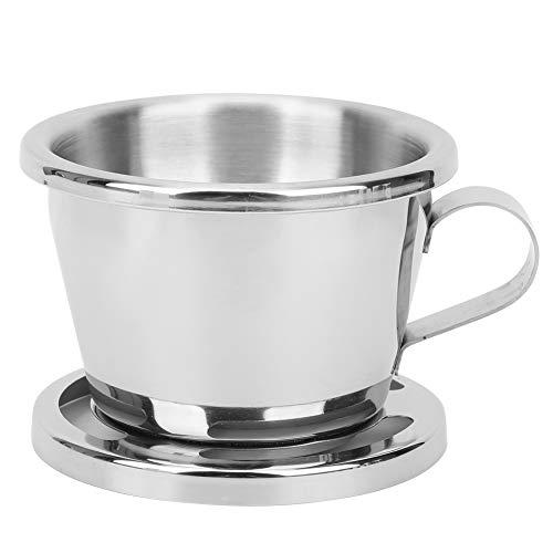 Bicaquu Kaffeekanne, Silberne Kaffeekanne in Lebensmittelqualität, langlebig, wiederverwendbar für das Home Office