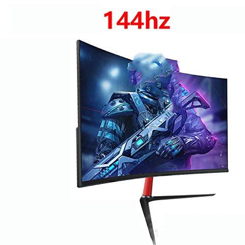 LQ Monitor 24-Zoll-Monitor 144hz Spiel, Gekrümmter Hochauflösendes Augenschutz Computer-Bildschirm, Schmalkante Desktop LCD-Monitor, Wand-178-Grad-Weitbetrachtungswinkelmonitor (Color : B)