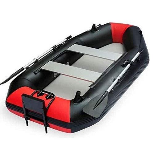 FUJGYLGL Plegable Kayak - 2 Persona Kayak Inflable Conjunto con el Barco Inflable, Dos remos de Aluminio y el Motor eléctrico - Pescador recreativo y Sentarse Encima de Peso Ligero Pesca en Kayak