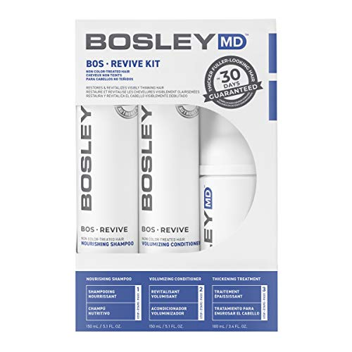 BosleyMD BosRevive KIT for Visible Hair Thinning (Non Color Safe), Starter Size (30 Days).