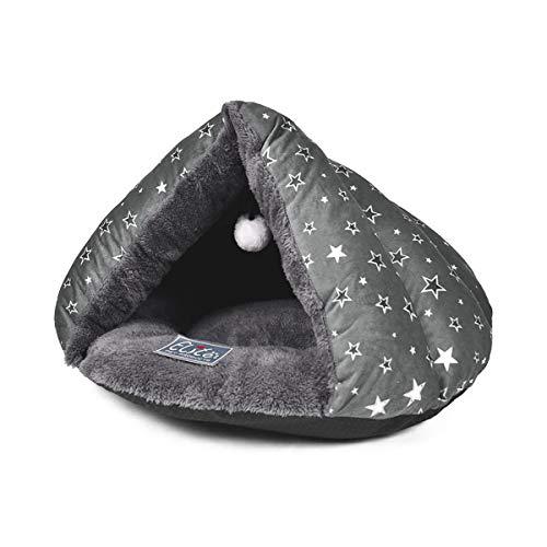 PETCUTE Cama para Gatos Cueva Casas para Gatos Perros pequeños Cama Cueva para Perros Suave y cómoda
