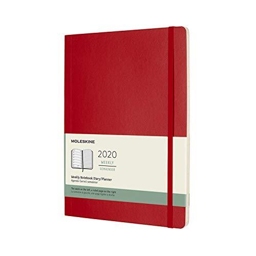 モレスキン 手帳 2020年 1月始まり 12ヶ月ウィークリーダイアリー ソフトカバー XLサイズ スカーレットレッド DSF212WN4Y20-e