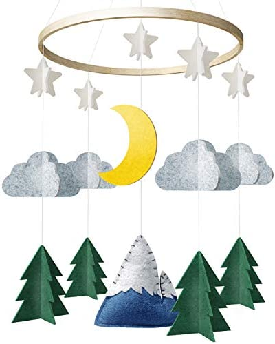 Baby Crib Mobile by Giftsfarm Starry Woodland Night Nursery Decoration Crib Mobile for Boys product image