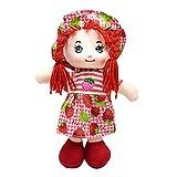 Daxoon 25CM Mädchen Puppe Obst Rock Weiche Stoffpuppe mit Hut für Kinder Mädchen Geburtstagsgeschenk