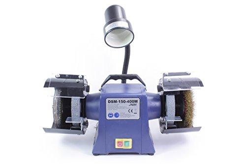 Preisvergleich Produktbild Polierbock,  Poliermaschine,  Schleifbock,  Schleifmaschine,  150mm,  400W,  Lampe, DSM-150-400M