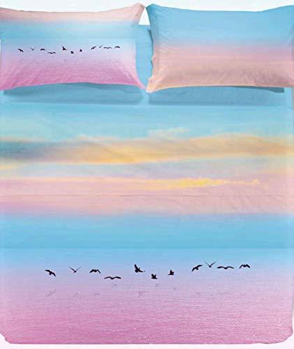 Juego de sábanas para cama de matrimonio de viaje rosa Australia