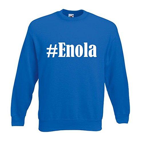Reifen-Markt Sudadera Hashtag #Enola para mujer, hombre y niños en los colores negro, blanco y azul con estampado azul L