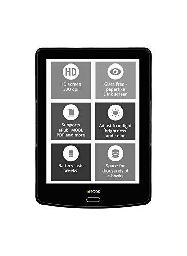 inkBOOK Prime HD E-Reader 300dpi Schermo da 6' con Luce Integrata, Android, Wi-Fi, 8 GB, Nero