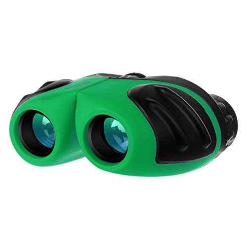 Gifts for Boys Age 5-10, Compact Shockproof Binocular for Kids Toys for 4-7 Year Old Boys Birthday Present for Kids 8x21 Green