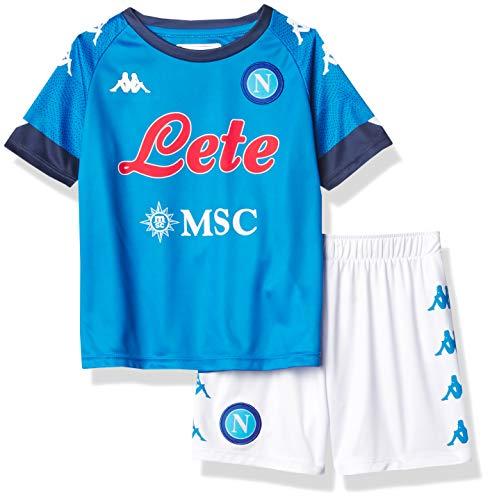 SSC Napoli Unisex Kinder Ersatz-Spielset 2020/21 Third Kit, DUNKELBLAU-PINK, 6 Jahre