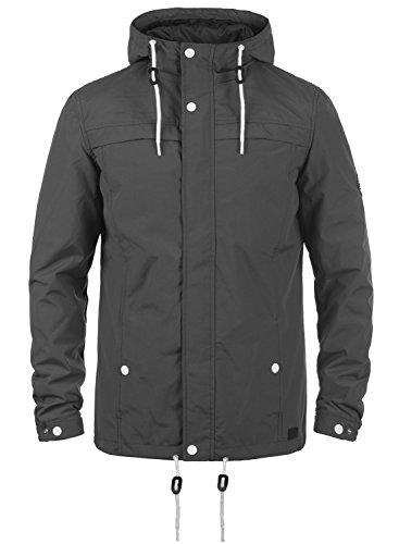 Redefined Rebel Maddox Herren Übergangsjacke Herrenjacke Jacke mit Kapuze, Größe:L, Farbe:Antracit Grey