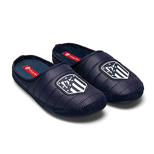 Zapatillas Oficiales Atlético de Madrid Amatista Azul Zapatillas de Estar por casa Hombre Invierno Otoño - 38.5 EU